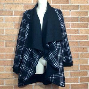 Soft Surroundings cardigan jacket plaid size Small